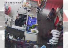 Bandidos invadem mercadinho e fazem verdadeiro terror no estabelecimento (FOTO: Reprodução TV Jangadeiro)