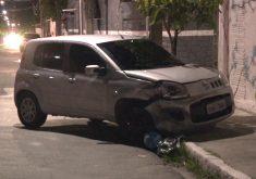 Carro é atingido por bandidos durante perseguição policial