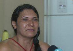 Mulher pede para as mulheres que forem vítima dei violência denuncie (FOTO: Reprodução TV Jangadeiro)