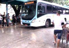 Passageiros e motoristas de Fortaleza temem com a onda de ataques(FOTO: Reprodução TV Jangadeiro)