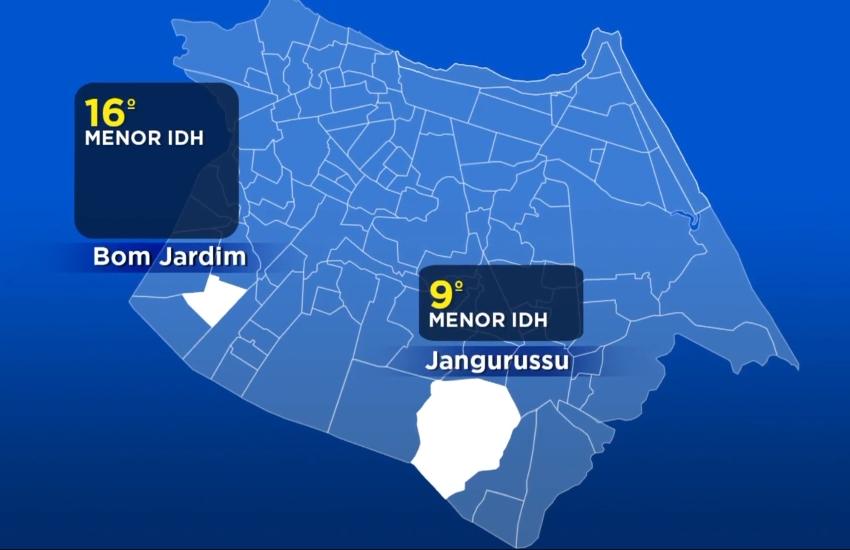Bairros com presença de facções rivais têm grande número de ataques e menores IDHs da cidade
