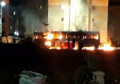 Ônibus é incendiado em ataque criminosos no Ceará (FOTO: Reprodução TV Jangadeiro)