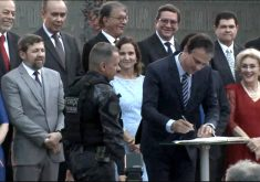 Governador Camilo Santana adotou reforço na segurança (FOTO: Reprodução TV Jangadeiro)