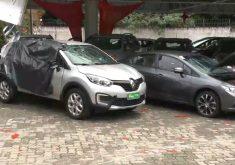 Criminosos ataca concessionária de caro em Fortaleza (FOTO: Reprodução TV Jangadeiro)