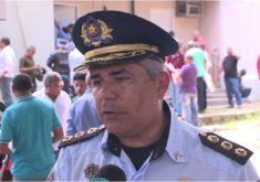 Policiais da reserva foram convocados para reforçar a segurança (FOTO: Reprodução TV Jangadeiro)