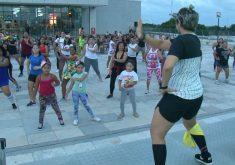 Nádia Santos a Rainha da Dança em Caucaia (FOTO: Reprodução TV Jangadeiro)
