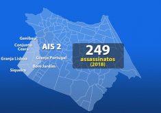 Ais 2 é uma das 10 áreas integradas de segurança que dividem Fortaleza(FOTO: Reprodução TV Jangadeiro)