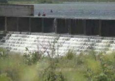 A barragem do Cocó foi o 2º reservatório a sangrar no Ceará (FOTO: Reprodução TV Jangadeiro)