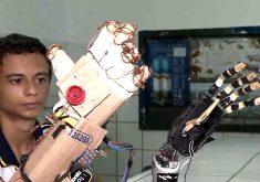 Alunos de escola publica criam mão mecânica(FOTO: Reprodução TV Jangadeiro)