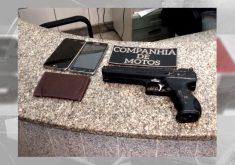 Assaltantes usam arma de ar comprimido para assaltar motorista (FOTO: Reprodução TV Jangadeiro)