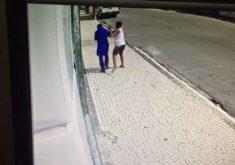 Pedestre fala ao celular e termina sendo vítima de roubo (FOTO: Reprodução TV Jangadeiro)