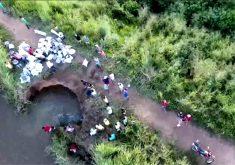 Barragem corre risco de rompimento (FOTO: Reprodução/TV Jangadeiro)