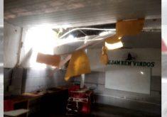 Estrutura precária de escola ameaça segurança de alunos(FOTO: Reprodução TV Jangadeiro)