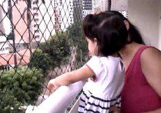 Redes de proteção podem evitar acidentes com crianças (FOTO: Reprodução TV Jangadeiro)