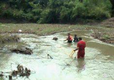 Buscas pela criança que foi arrastada pelo Rio Maranguapinho chegara ao fim (FOTO: Reprodução TV Jangadeiro)