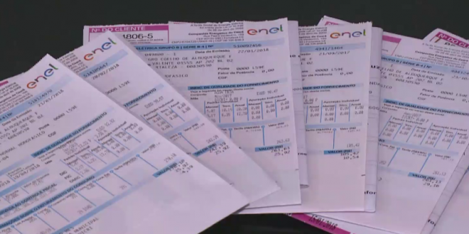 10% dos clientes da Enel recebem duas contas para pagar no mês de julho; entenda o motivo