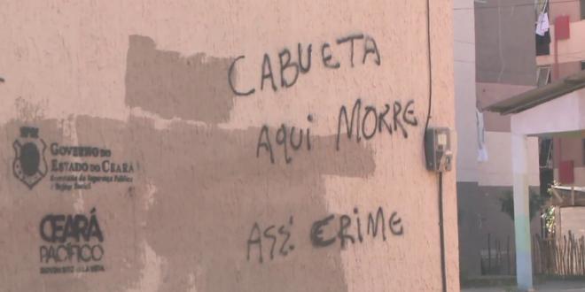 Crime organizado utiliza pichações para demarcar território em bairros de Fortaleza