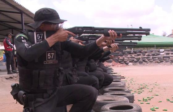 Os investimentos foram apenas para a compra de 1.751 pistolas (FOTO: TV Jangadeiro)