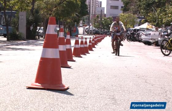Fortaleza tem 263 quilômetros de malha cicloviária (FOTO: Reprodução/TV Jangadeiro)
